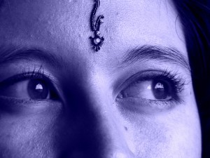 woman with bindi