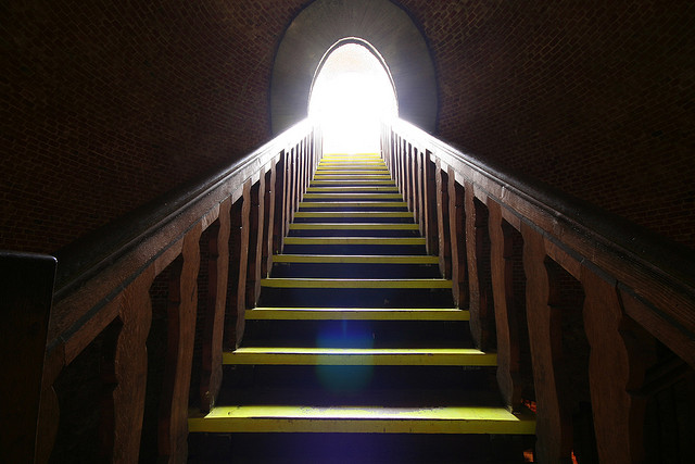 stairway into light