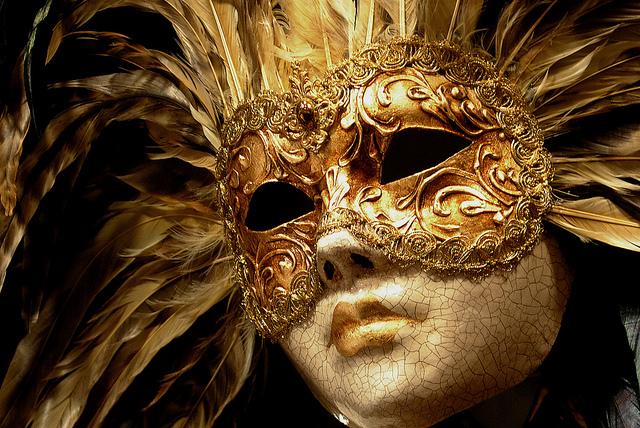 golden Venetian Mask