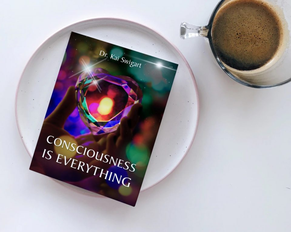 Consciousness is Everything: photo of book with coffee